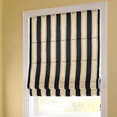 Kitchen Curtains Sears Canada by Black And White Awning Stripe Shade With Black Out