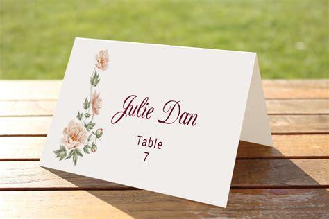 wedding table setting cards templates wedding table place card template card templates
