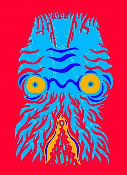 Trippy Yuriy Glitchy Squids Behance Artists Masks