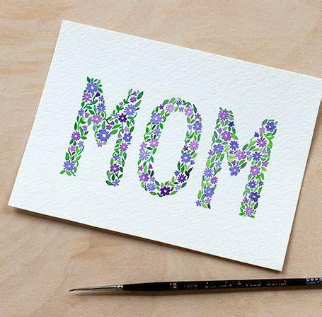 diy watercolor mothers day card  printable