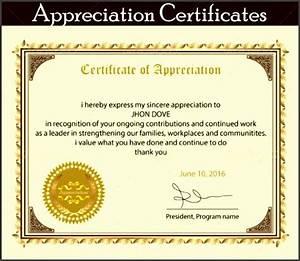 8 printable certificate of appreciation template With pastor appreciation certificate template free