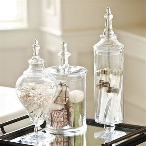 Glass Apothecary Jar  Traditional  Bathroom Canisters