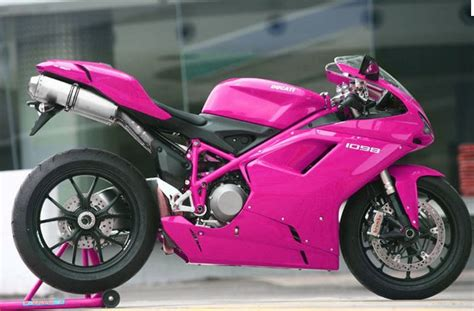 This Is A Hot Pink Ducati Crotch Rocket!