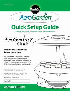 Quick Setup Guide Aerogarden 7 Classic By Caitlynko