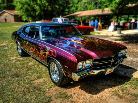 Flamed '70 Chevy Malibu 001 Photograph By Lance Vaughn