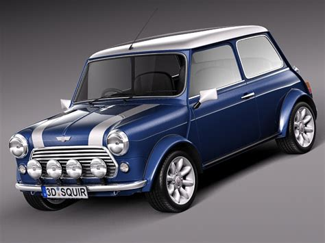 Mini Cooper S Classic 3d Model .max .obj .3ds .fbx .c4d