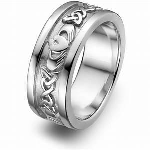 mens sterling silver claddagh wedding ring ums 6345 With claddagh wedding rings for men