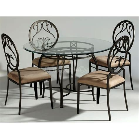 wrought iron dinette w back chairs kitchen table