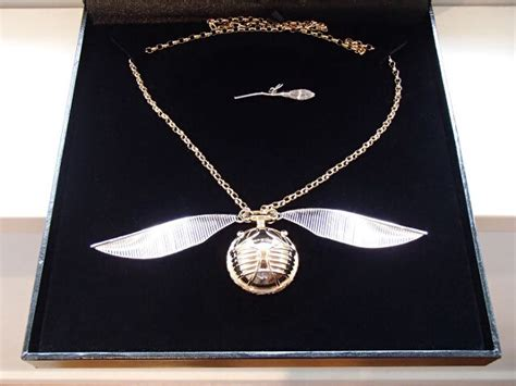 beautifully crafted harry potter golden snitch necklace