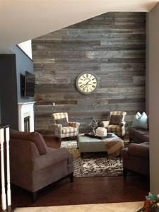 Barn board accent wall for Accent wall boards