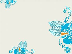 Turquoise Flower Powerpoint Templates - Blue, Flowers