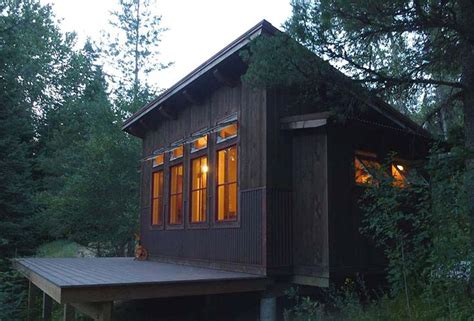built shed roof cabin customers property cabin loft house