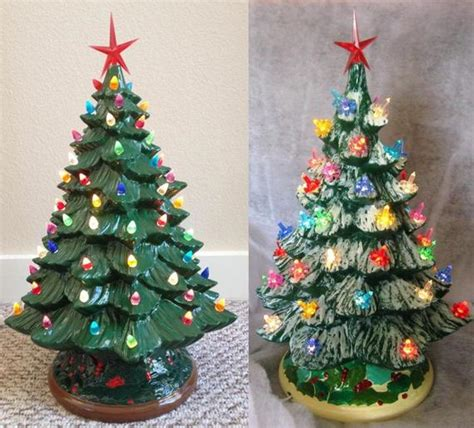 how to make a ceramic christmas tree ceramic bisque tree kit diy 20 w base etsy