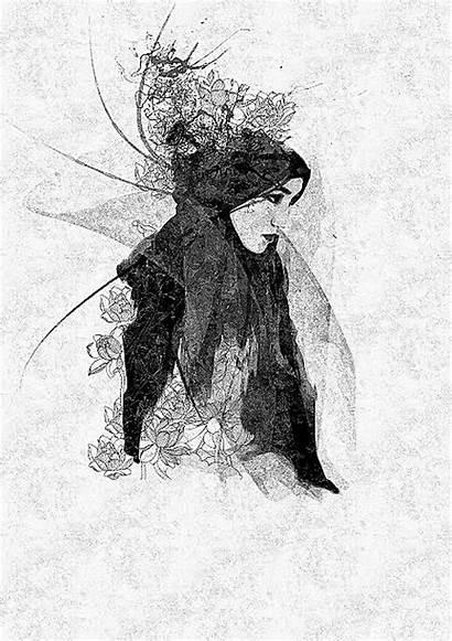 Hijab Cartoon Islamic Same Kartun Drawing Sketch