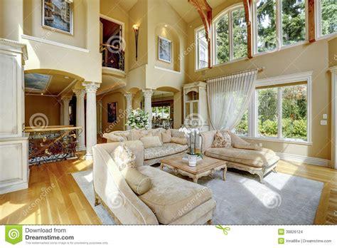 luxury house interior living room stock photo image 39826124