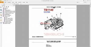 Takeuchi Excavator Tb1140 Parts Manual