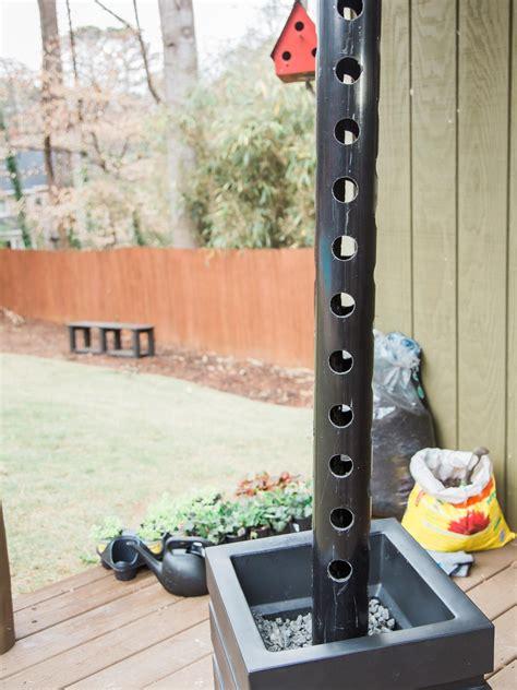 Vertical Garden Pipe how to make a vertical garden with pvc pipe hgtv