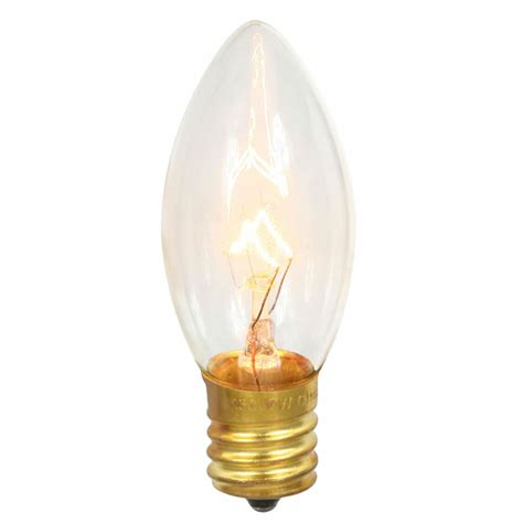 clear c9 intermediate base light bulbs 7 watts