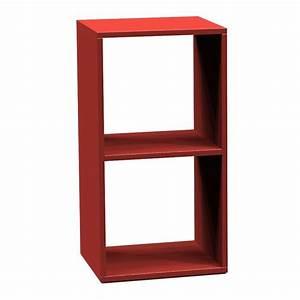 Case De Rangement : case de rangement kubo rouge 2 compartiments achat vente petit meuble rangement case de ~ Teatrodelosmanantiales.com Idées de Décoration