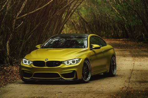 Bmw M4 Wrapped In Gold Chrome