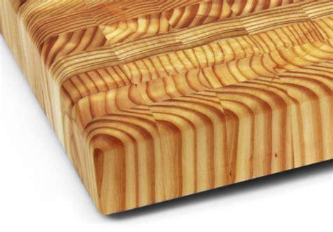 larch wood  grain cutting board xx cutlery