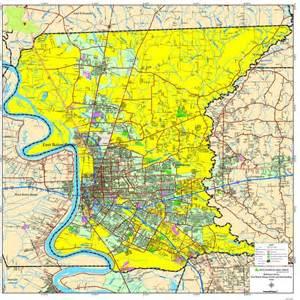 East Baton Rouge Parish Map