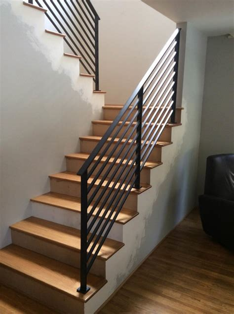 Long Beach Powder Coated Steel   Contemporary   Staircase