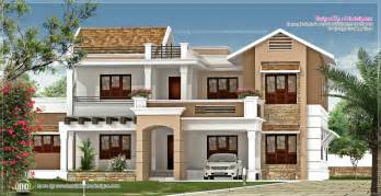 villa house plans new villa exterior design in 3740 sq kerala home