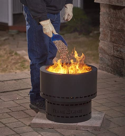 This miniature fire pit is perfectly sized for any backyard. Flame Genie - Wood Pellet Smokeless Fire Pit