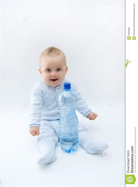 Baby And Water Stock Image Image Of Mineral, Fresh