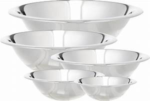 Cook Pro 5 Piece Stainless Steel Mixing Bowl Set & Reviews