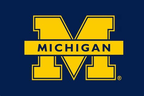 michigan wolverines colors michigan block m clipart clipart suggest