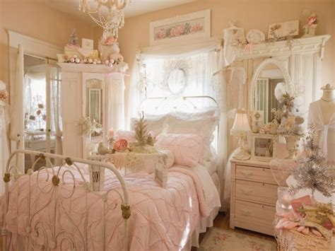 Country Style Bedroom Decor Romantic Shabby Chic Pink
