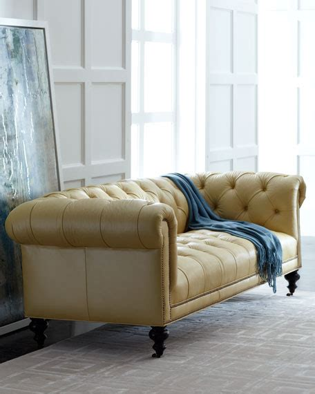 old hickory tannery sofa old hickory tannery morgan sunshine chesterfield leather sofa