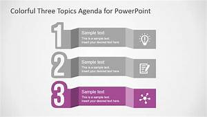 Free Colorful Three Topics Agenda for PowerPoint - SlideModel