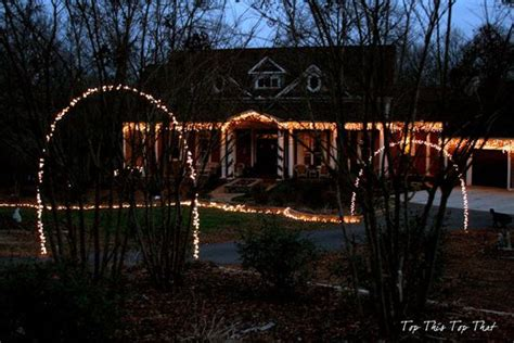 outdoor christmas driveway lights arches the o 39 jays and end of on pinterest