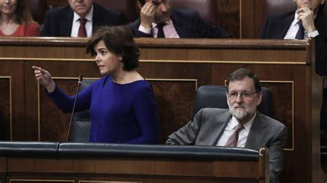 La moción de censura en españa es un procedimiento establecido en el artículo 113 de la constitución española de 1978 que permite al congreso de los diputados retirar su confianza al presidente del gobierno y forzar su dimisión. mocion-de-censura-rajoy | Geopolítico.es