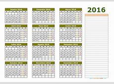 Calendário 2016 Calendarios 2016 para imprimir
