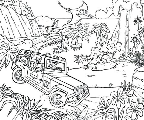 people  jurassic world coloring page  printable coloring pages  kids