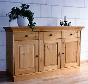 Sideboard Wildeiche Massiv Geölt : massivholz sideboard anrichte kommode kiefer massiv ~ Watch28wear.com Haus und Dekorationen
