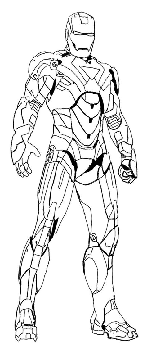 heroes iron man coloring page kids coloring pages