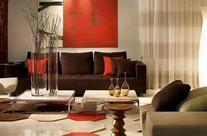 Deco Mur Interieur Moderne : deco salon moderne marron deco maison moderne ~ Teatrodelosmanantiales.com Idées de Décoration