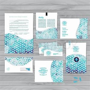 Vector Corporate Identity Wave Pattern Abstract Backdrop