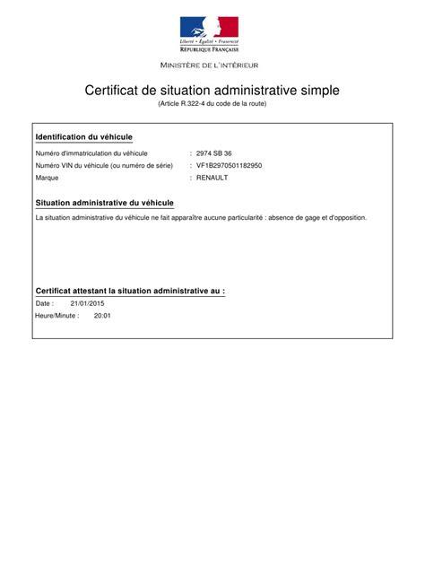 route occasion telecharger le certificat de non gage