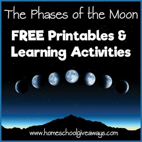 phases   moon printables learning activities