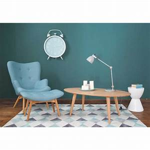 Canapé Bleu Maison Du Monde : fauteuil vintage bleu iceberg maisons du monde ~ Teatrodelosmanantiales.com Idées de Décoration