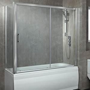 Phoenix 8mm Glass Sliding Over Bath Enclosed Shower Screen