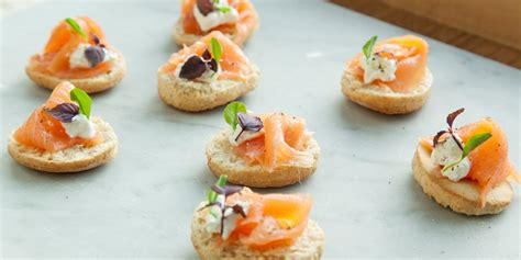 smoked salmon canape ideas smoked salmon canapé recipe great chefs
