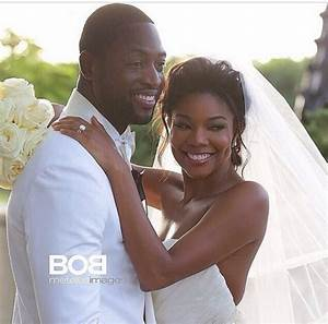 newlyweds dwyane wade gabrielle union release official With gabrielle union wedding dress