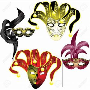 Mask clipart venetian - Pencil and in color mask clipart ...
